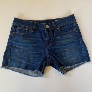 J. Crew Indigo Denim Jean Shorts Size 25